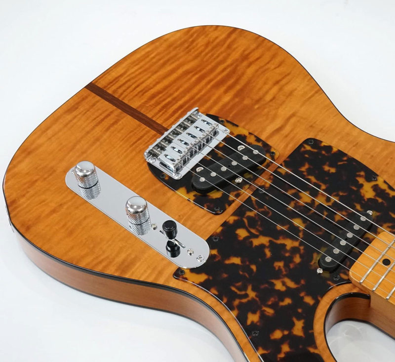 H.S.ANderson製のギターMad Catのピックガード