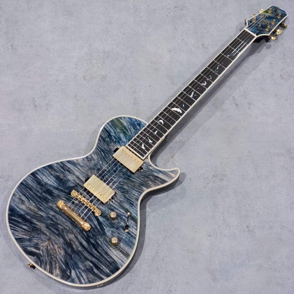 """Sugi Guitars SH485E BM-PRM/A-MAHO/Bat Inlay/PLB""""Luthier's Show Model"""
