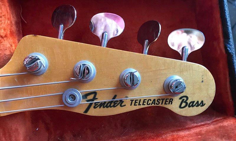 Telecaster Bassのヘッドストック