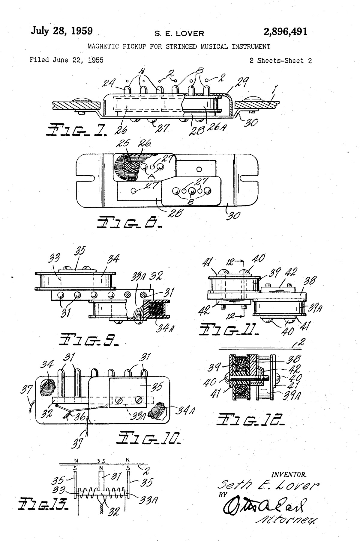 GibsonのP.A.Fの特許書類