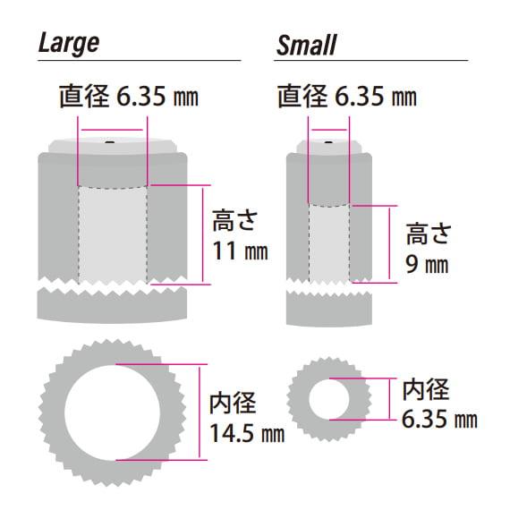 ロックノブサイズ図